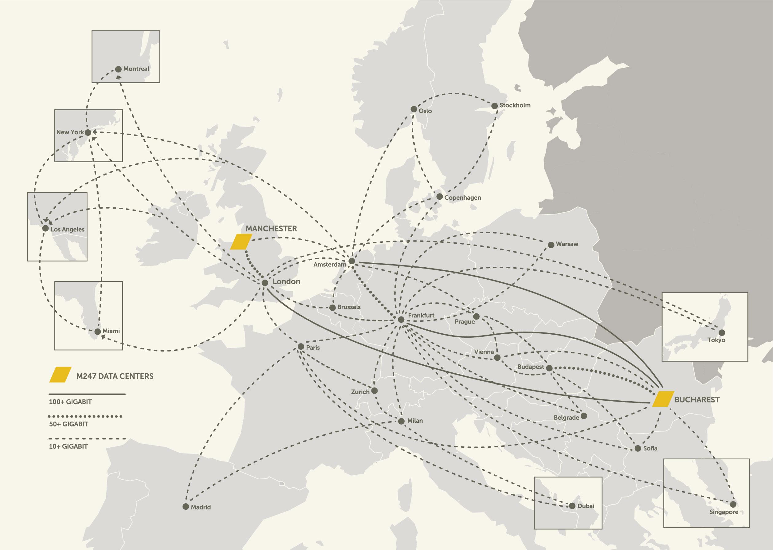 International network map